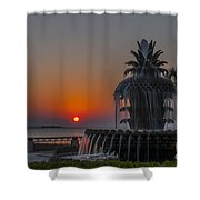 Waterfront Park Sunrise Shower Curtain