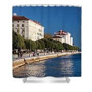 Waterfront Promenade In Zadar Shower Curtain
