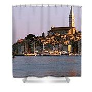 Waterfront, Rovinj, Croatia Shower Curtain
