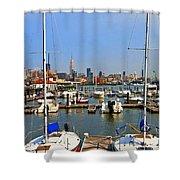 Waterfront View Hoboken Shower Curtain