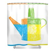 Watering Can Pop Art Shower Curtain