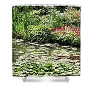 Waterlily Pond Giverney Shower Curtain