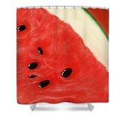 Watermelon Shower Curtain by Anastasiya Malakhova