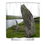 Waters Edge Stones At Bernera Shower Curtain