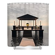 Waterside Gazebo Shower Curtain
