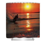 Waterskiing At Sunset Shower Curtain