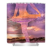 Waterspout Shower Curtain