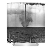 Waterspout In China Shower Curtain