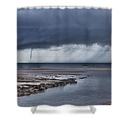 Waterspout Over The Ocean Shower Curtain