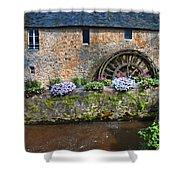 Waterwheel In Brittany Shower Curtain