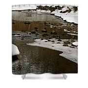 Watery Trail Shower Curtain