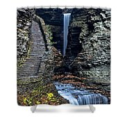 Watkins Glen Central Cascade Shower Curtain