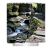 Watkins Glen State Park Shower Curtain by Frozen in Time Fine Art Photography