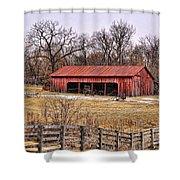 Watkins Mill Barn Shower Curtain