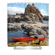 Watson Lake Shower Curtain by Diane Greco-Lesser