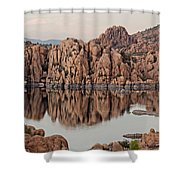 Watson Lake Tranquility Shower Curtain