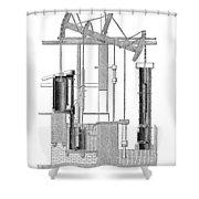 Watts Steam Engine, 1769 Shower Curtain
