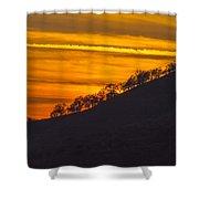 Watts Valley Sunset Shower Curtain