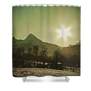 Watzmann At New Year Shower Curtain