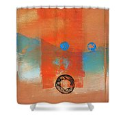 Wave Abstract Shower Curtain