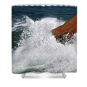 Wave Action Florianopolis Shower Curtain