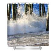 Wave Art 10 Shower Curtain