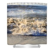 Wave Art 4 Shower Curtain