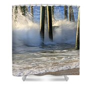 Wave Art 9 Shower Curtain