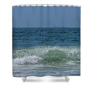 Wave At Seal Beach Shower Curtain