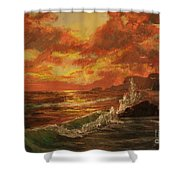 Wave Crash Shower Curtain