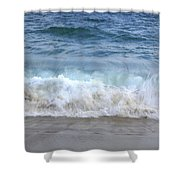 Wave Crashing On The Beach Shower Curtain
