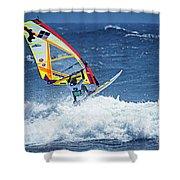 Wave Jumpimg Shower Curtain