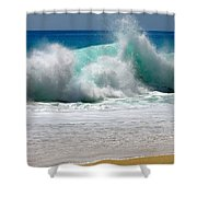 Wave Shower Curtain by Karon Melillo DeVega