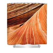 Wave Lines Shower Curtain