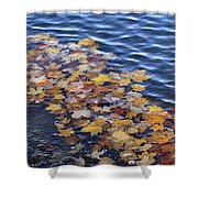 Wave Of Fall Leaves Shower Curtain