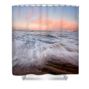 Wave On Wave Shower Curtain