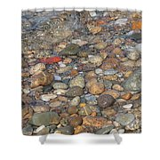 Wave Over Beautiful Rocks Shower Curtain