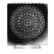 Wave Particle Duality Black White Shower Curtain