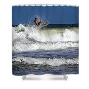 Wave Rider Shower Curtain