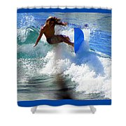 Wave Rider Shower Curtain