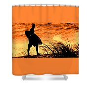 Wave Search Shower Curtain
