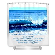 Wave Serenity Prayer Shower Curtain