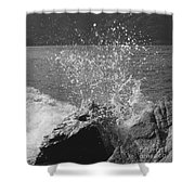 Wave Spray Shower Curtain