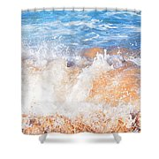 Wave Up Close Shower Curtain