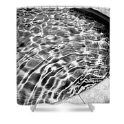 By The Pool Palm Springs Shower Curtain