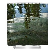 Wavering Reflections Shower Curtain