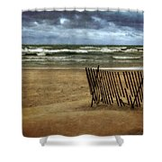 Waves And Clouds  Shower Curtain