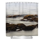 Waves And Rocks Shower Curtain