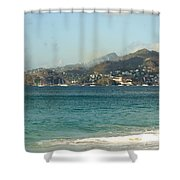 Waves And Sky Shower Curtain