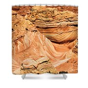 Waves And Twists Shower Curtain